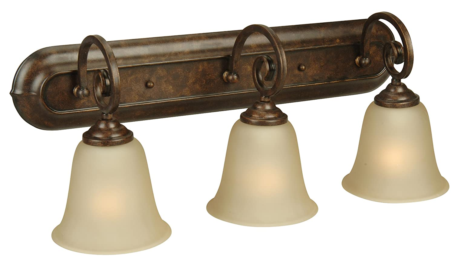 Craftmade 7123BN3 Vanity Lights with Alabaster Glass Shades, Brushed Nickel