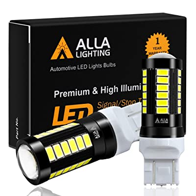 Alla Lighting 2800lm 7440 7443 LED Bulbs Xtreme Super Bright T20 7441 7442 7444NAK LED Bulb 5730 33-SMD Car Back-Up Reverse,Turn Signal,Brake Stop Lights TailLights DRL, 6000K Xenon White: Automotive