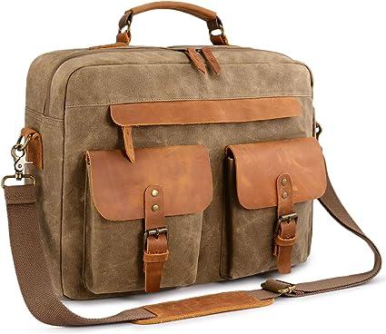 Genuine Classica Borsa in Pelle Affari Valigetta Laptop a Tracolla Messenger Borsa a tracolla
