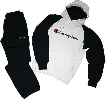 3877696116c65 Champion Survêtement Freetime avec capuche, en coton molletonné M blanc