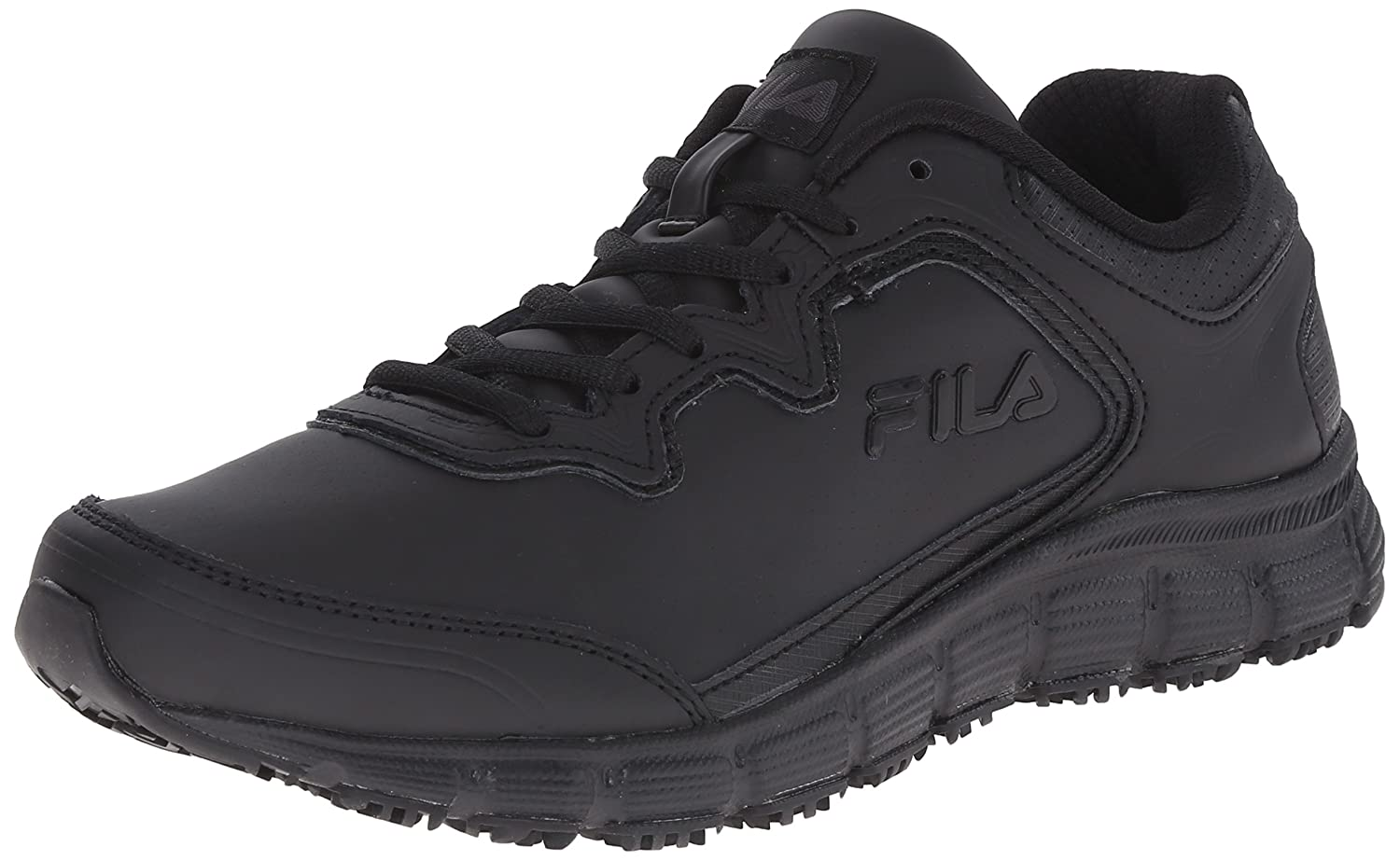 Fila Women's Memory Fresh Start Slip Resistant Work Shoe B0107M1PXG 9 B(M) US|Black/Black/Black