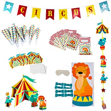 amazon com circus party supplies decorations circus themed party