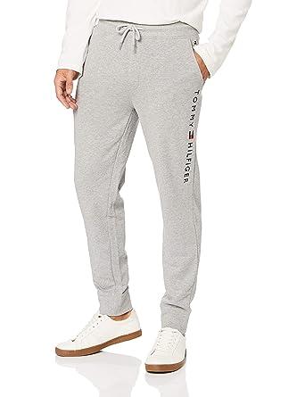 583ec3be Tommy Hilfiger Men's Logo Joggers, Grey, XL at Amazon Men's Clothing store: