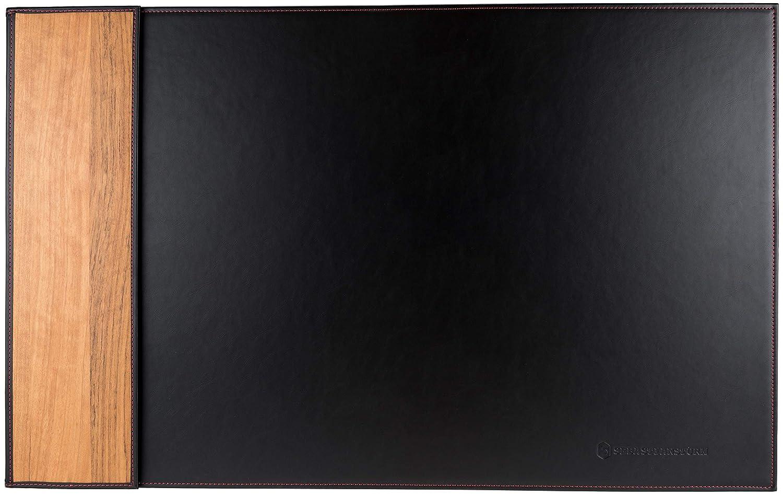 Amazaque//Cucitura beige, 28 620 mm x 360 mm Sottomano Da ScrivaniaBILL Realizzato In Pelle PU Masterizzata Di Alta Qualit/à E Applicazioni In Vero Legno