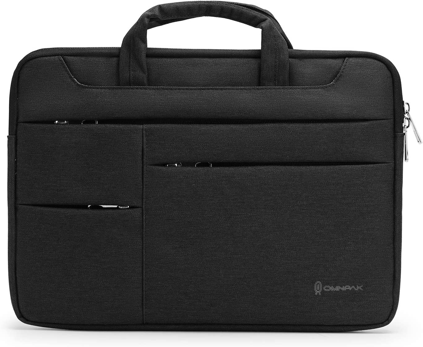 Omnpak 360 Laptop Sleeve Carrying Case for 15.6 Inch Acer Aspire E 15, Water-Resistant Notebook Bag Case for 2020 New Dell XPS 17 Laptop with Accessory Pocket,Black