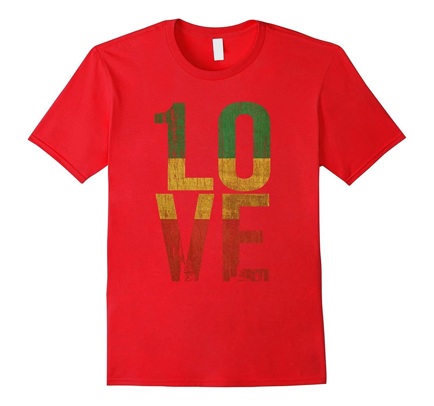 1 Love T Shirt For Reggae Music Fans-RT