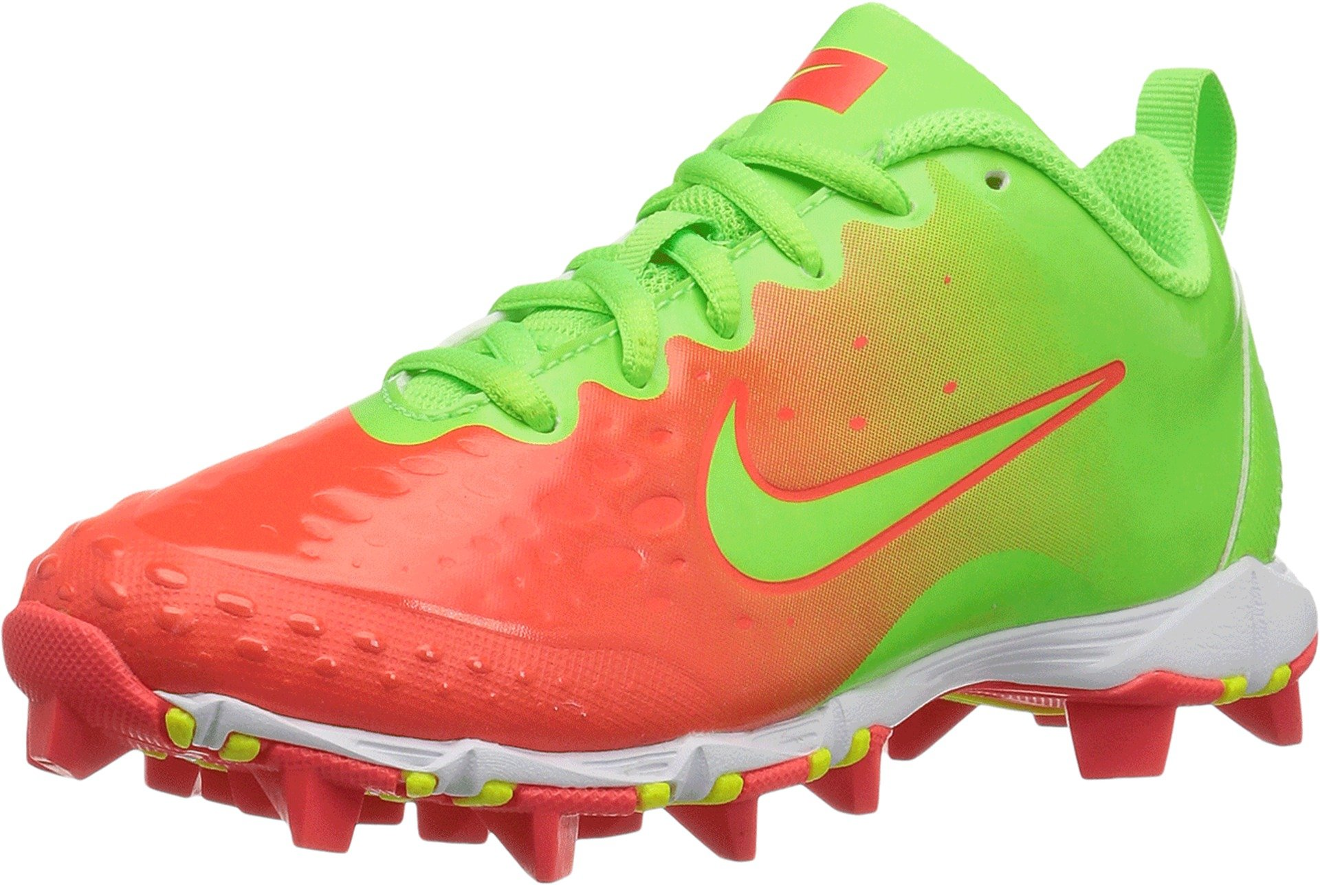 Nike Kids' Hyperdiamond 2 Keystone Softball Cleat,Pink/Green,13K by Nike