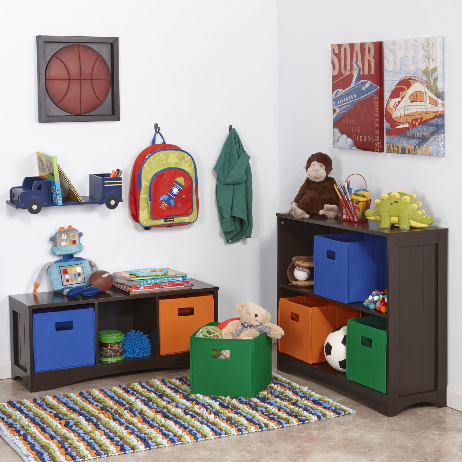 White Sourcing Solutions Inc. RiverRidge 02-023 Bench with 3 Cubbies for Kids