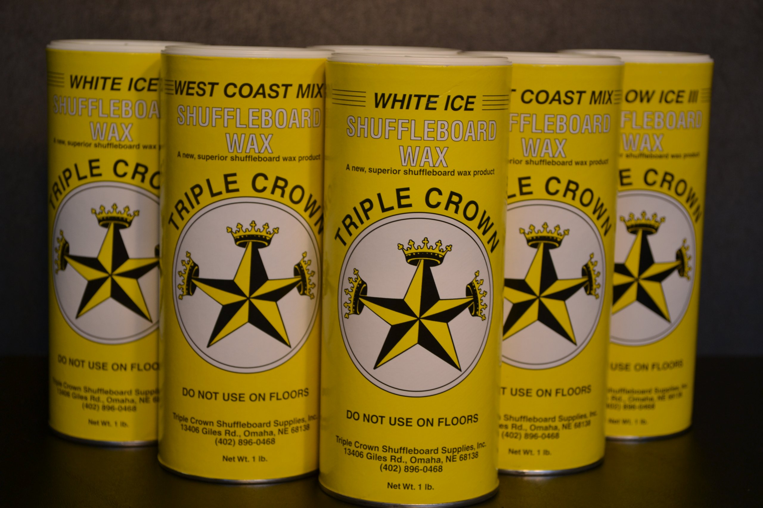Triple Crown Fast Speed Sampler Table Shuffleboard Powder Wax Combo Six Pack by Triple Crown