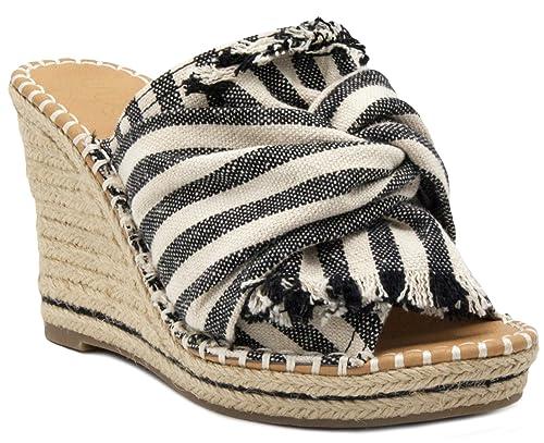 a8809a4dfe5 Sugar Women's Honora Slip-on Open Back Espadrille Wedge Sandal