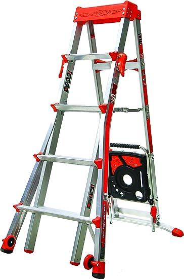 Little Giant Escaleras 15125EN Seleccionar Paso Ajustable Escalera A Marco Aluminio 5-8 ft: Amazon.es: Bricolaje y herramientas
