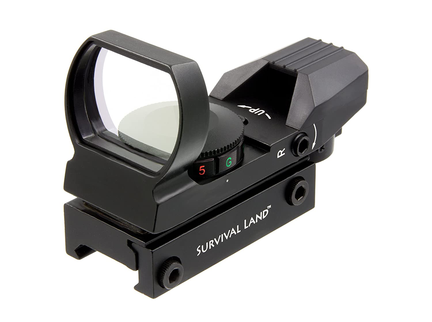 Survival Land Reflex Sight with 4 Selectable Red or Green Retical Patterns