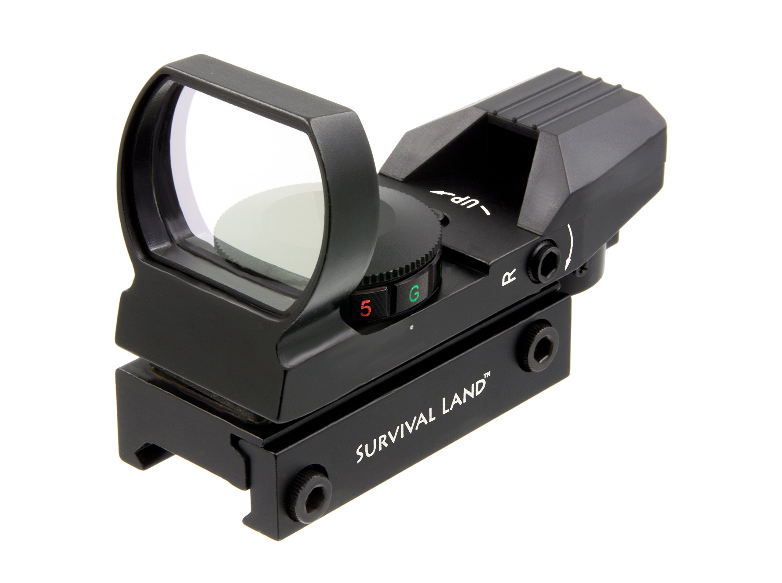 Survival Land Reflex Sight with 4 Selectable Red or Green Retical Patterns by Survival Land
