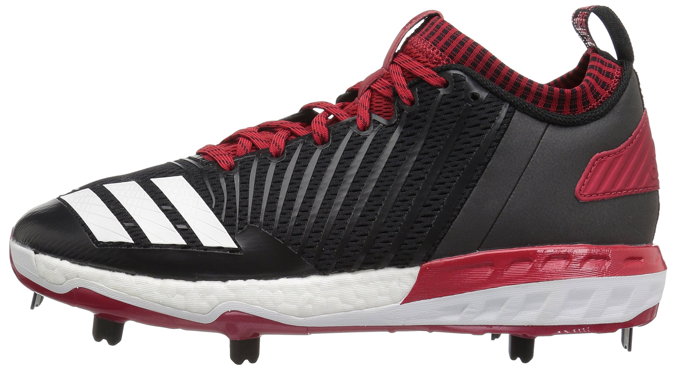 adidas Men's Freak X Carbon Mid Baseball Shoe, Black/White/Power RED, 7.5 Medium US by adidas (Image #5)