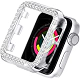 Secbolt Bling Case Compatible with Apple Watch 42mm, Full Cover Bumper Screen Protector for iWatch Series 3 2 1 (Clear…