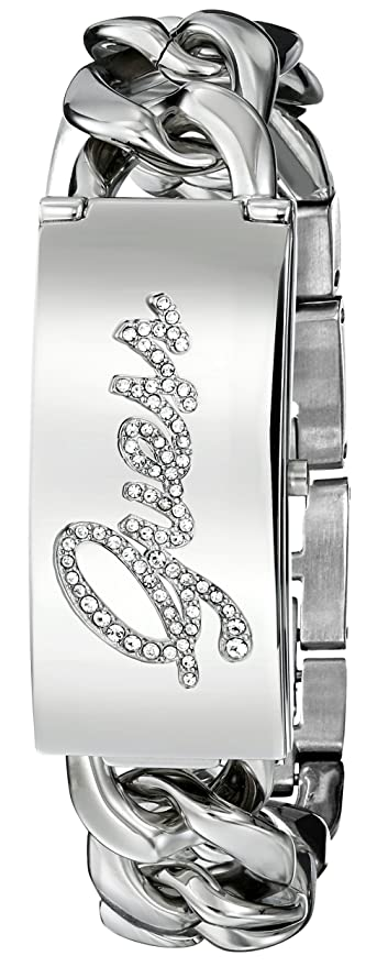 Amazon.com: GUESS Womens U0321L1 Crystal-Accented Silver-Tone Watch: Guess: Watches