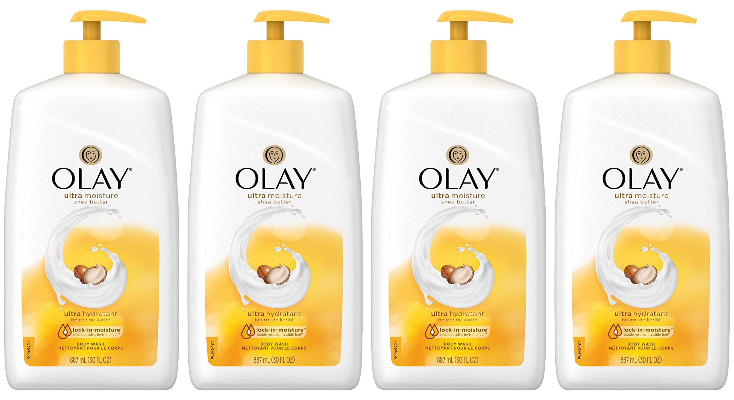 Olay Ultra Moisture Shea Butter Body Wash, 30 Fluid Ounce (Pack of 4) by Olay (Image #1)