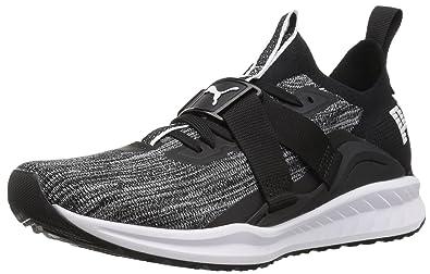 75a300bc7ac641 PUMA Men s Ignite Evoknit Lo 2 Sneaker Black White-Quiet Shade