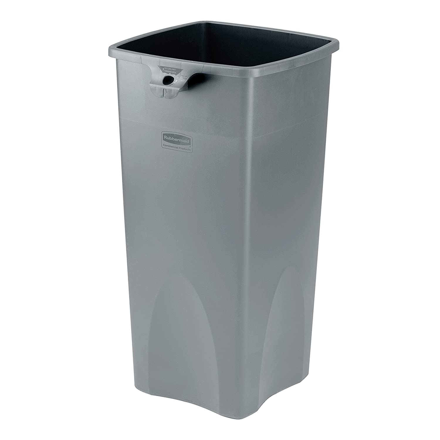 Rubbermaid Commercial Untouchable Plastic Waste Bin Polyethylene 87 Litres - Grey Newell Rubbermaid FG356988GRAY COURCP356988GY