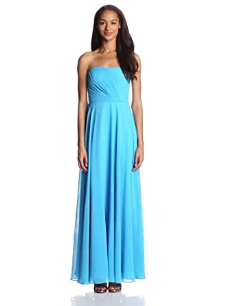 Hailey by Adrianna Papell Women's Strapless Beaded Gown, Bright Aqua, 2