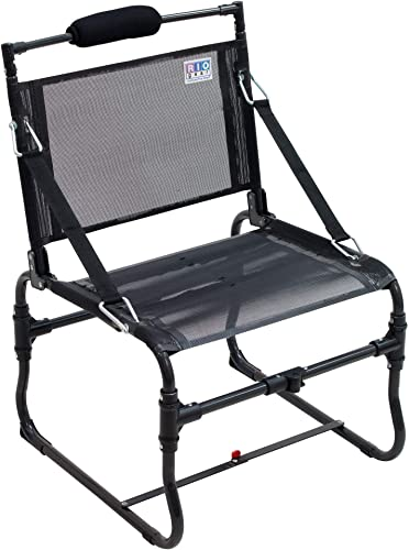 Rio Gear 16 Seat Height Compact Traveler Folding Chair with Strap Arms – Medium