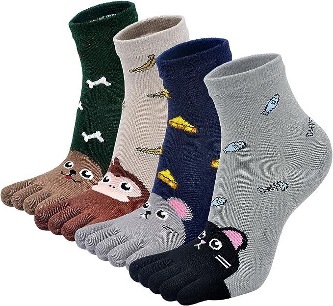 Calcetines Cinco Dedos para Niñas Niños Calcetines de Algodón ...