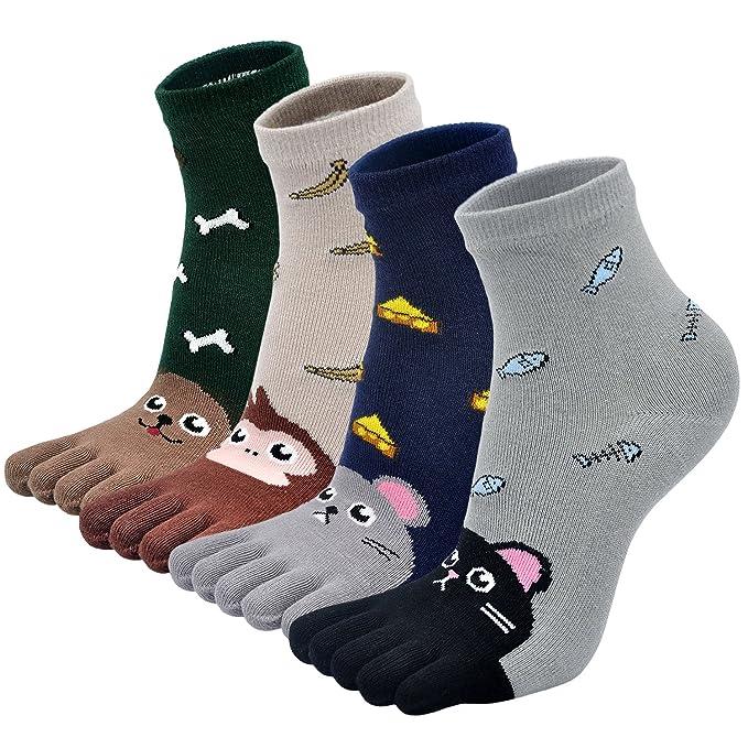 LOFIR Calcetines para los pies de los niños Diseño de animales Calcetines de cinco dedos para