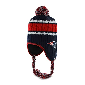 47 Brand NFL New England Patriots Women s McKenzie Sherpa Knit Hat with  Pom 64cdfea02