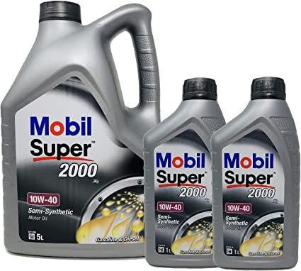 Aceite Lubricante Motor - Mobil Super 2000 X1 10W-40, Pack 7 LTS ...