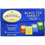 Twinings Variety Pack of Four Flavors, Tea Bags, 20 Count