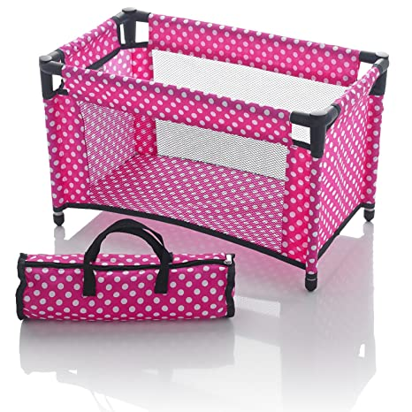 Molly Dolly Dolls Travel Cot Bed by Molly Dolly