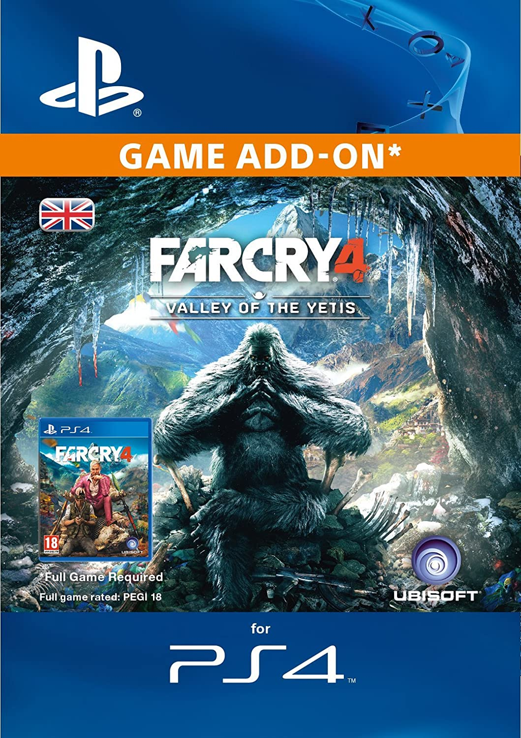Amazon Com Far Cry 4 Valley Of The Yetis Dlc Ps4 Psn Code Uk Account Video Games