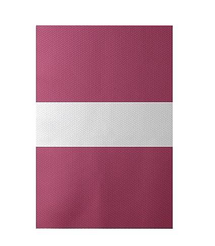 E by design Narrow The Gap Stripe Print Rug Seed 3 by 5-Feet