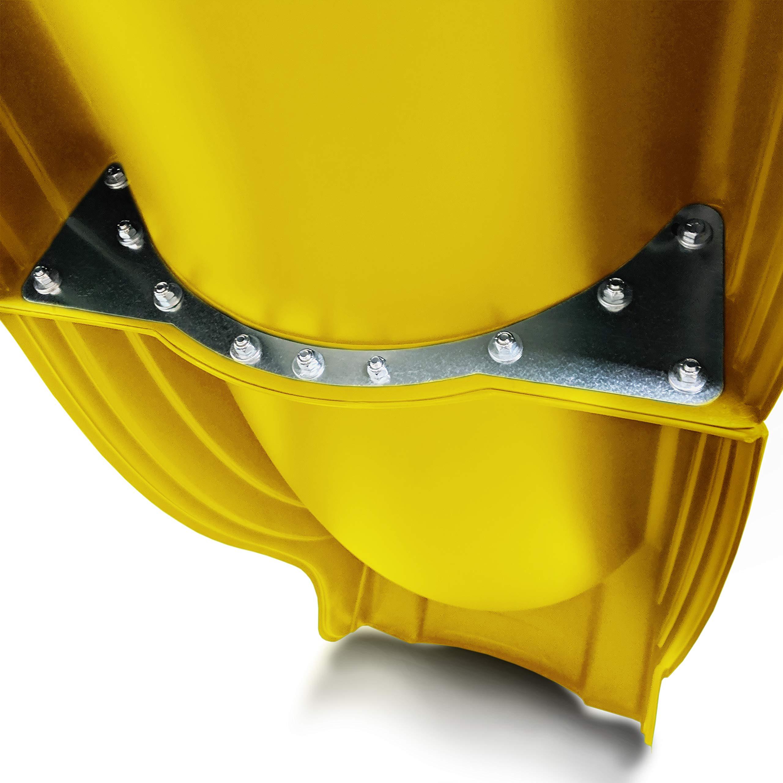 Swing-N-Slide WS 5031 Olympus Wave Slide 2 Piece Plastic Slide for 5' Decks, Yellow by Swing-N-Slide (Image #4)