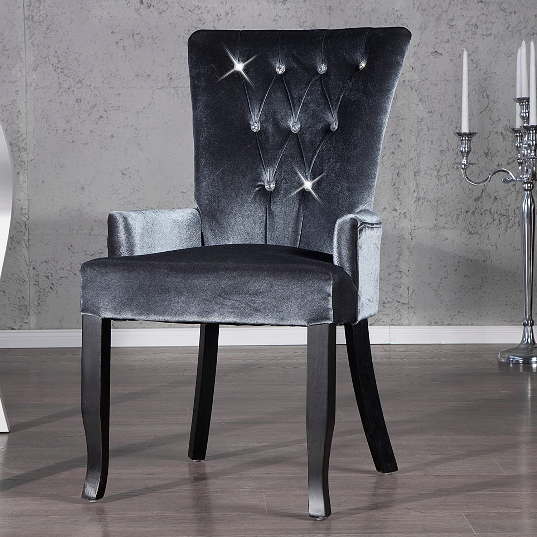 Silber Stoff Samt Mit Boutique Stuhl Design Interior Invicta