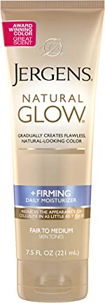 Jergens Natural Glow +FIRMING Self Tanner, Sunless Tanning Lotion for Skin