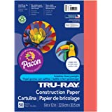 Pacon Tru-Ray Construction Paper, 9-Inches by 12-Inches, 50-Count, Red (103030)