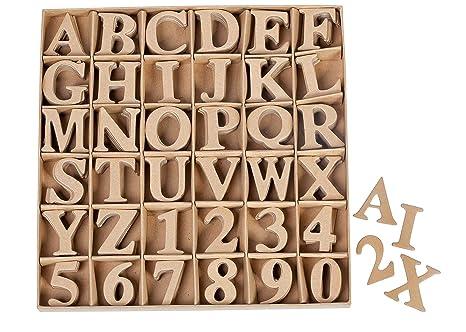 VBS Buchstaben Zahlen Set 360 Teile Alphabet AZ + 0-9 aus Karton dekorieren  basteln