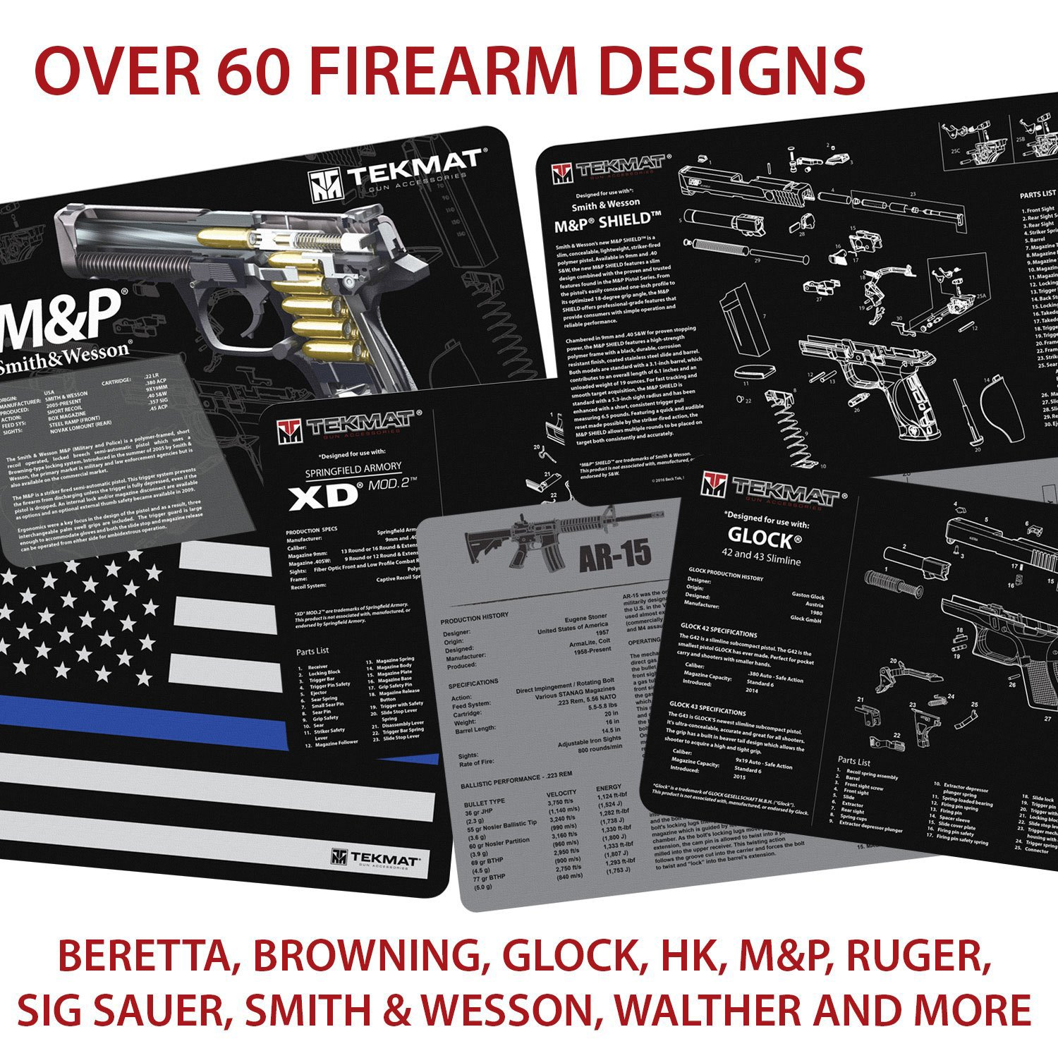 Tekmat Springfield Armory Xd Cleaning Mat 11 X 17 1911 Magazine Diagram Free Download Wiring Diagrams Pictures Thick Durable Waterproof Handgun With Parts And Instructions