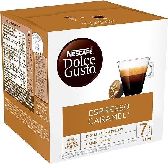 NESCAFÉ Dolce Gusto Espresso Caramel, Cápsulas de Café - 16 ...