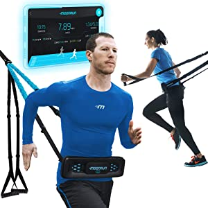 MoonRun Portable Cardio Trainer for Home Workout with Virtual Running apps | Home Gym for Total Body Fitness - Combines Bodyweight Resistance Bands & Low Impact Cardio | Bluetooth Wireless Device
