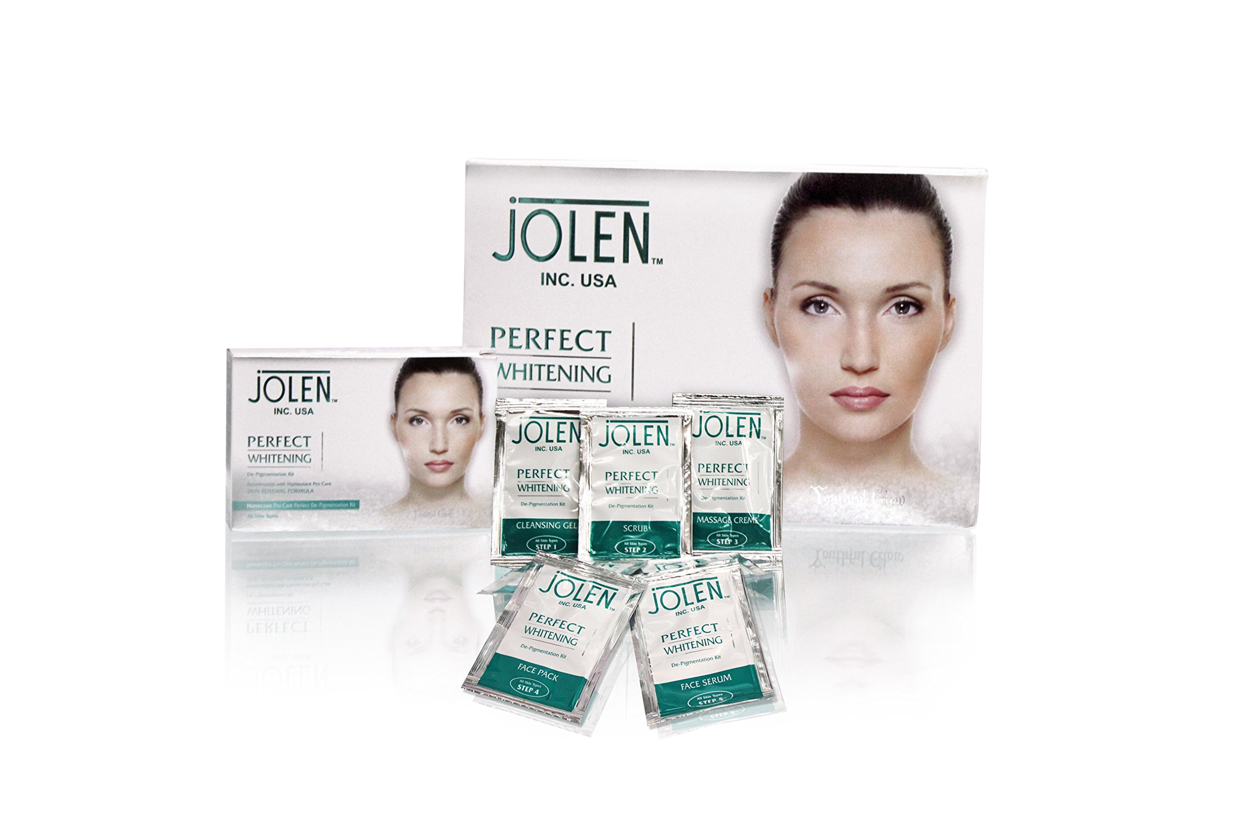 Jolen Perfect Whitening Facial Kit - (Pouch) 200g product image