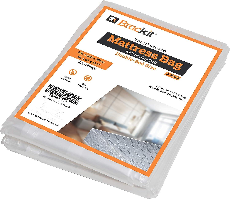 Bolsa de colchón para almacenamiento - Tamaño doble 200 g. 231cm x 160cm x 35cm, paquete de 2