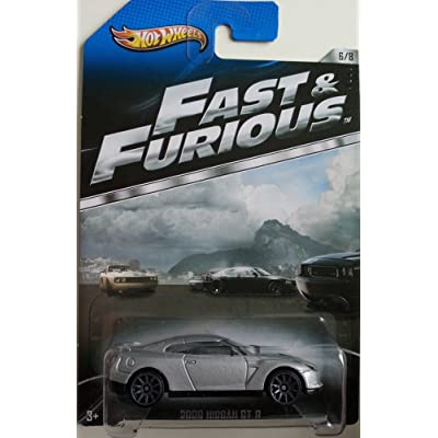 Hot Wheels Fast and Furious Limited Edition - 2009 Nissan GT-R 1:64 Scale Collectible Die Cast Metal Toy Car Model [6/8]: Toys & Games