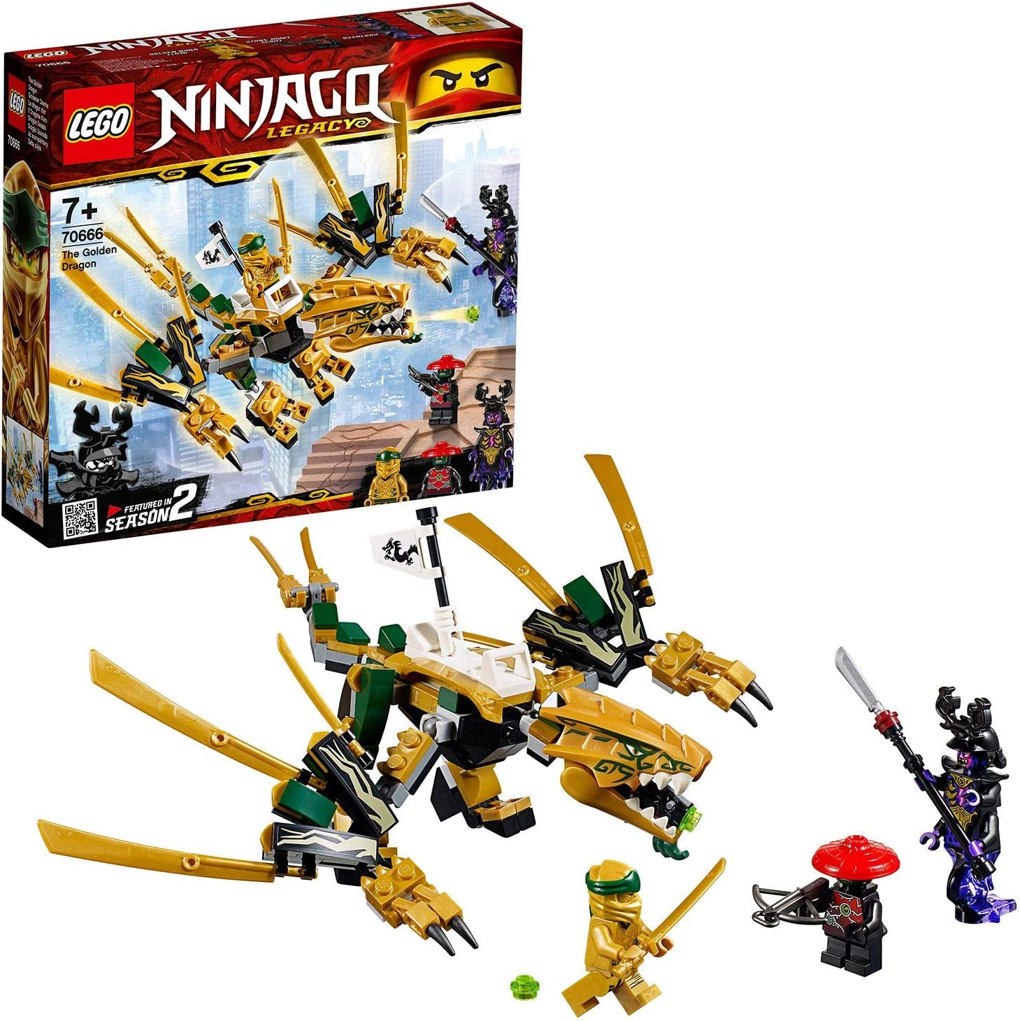 Amazon.com: LEGO Ninjago - Dragón Dorado (70666): Toys & Games