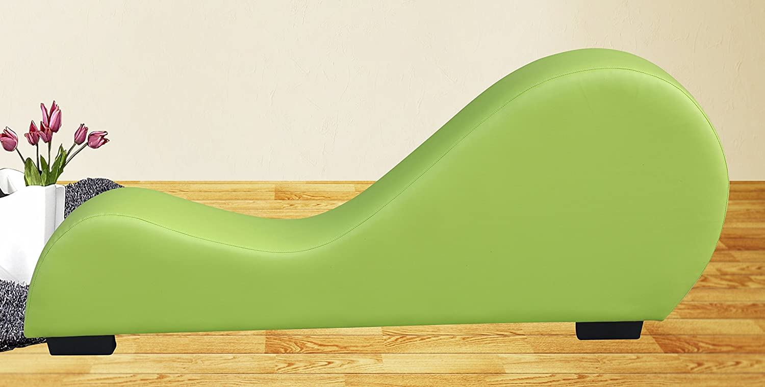 Amazon.com: Container Direct CL 06 06 Container Furniture Direct Stretch  Chaise Ultimate Faux Leather Curved Yoga And Lounge Chair, Green, Regular,:  Kitchen ...