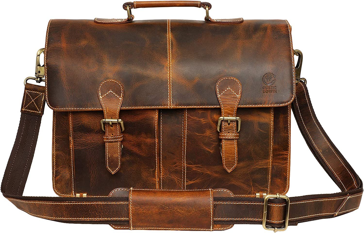 Antique Walrus skin leather satchel briefcase attach\u00e9 messenger bag rustic worn patina travel luggage hipster steampunk accessory