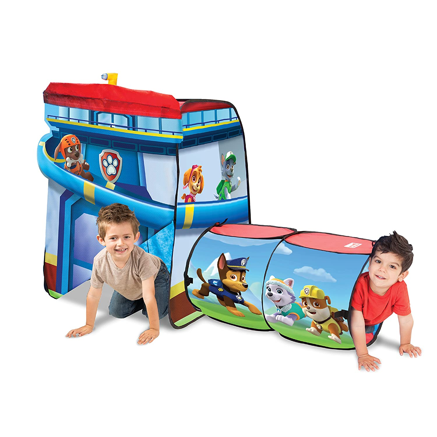 Paw Patrol Playhut Fun Play Tent Tunnel Pop Up Kids Playhouse Boy