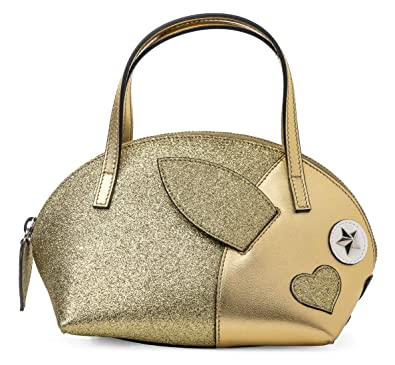 0128f22bbb Amazon.com: Gucci GG Canvas Children's Rabbit Top Handle Gold Metallic  Heart Bag New: Shoes