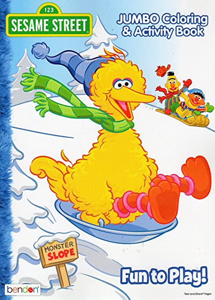 christmas holiday sesame street fun to play jumbo coloring activity book